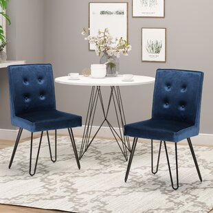 Poteet Upholstered Dining Chair (Set of 2) Everly Quinn