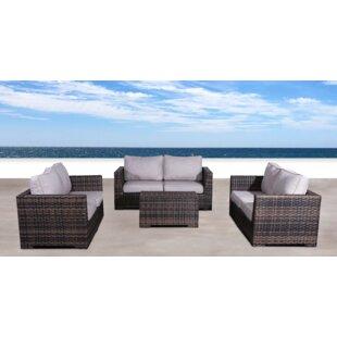 Brayden Studio Pierson 4 Piece Sofa Set with Cushions