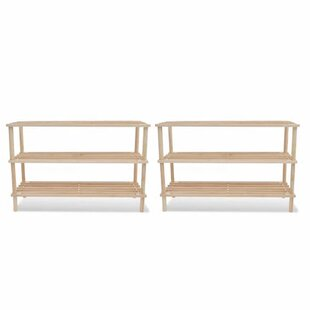 3-Tier 18 Pair Shoe Rack (Set Of 2) By Beachcrest Home