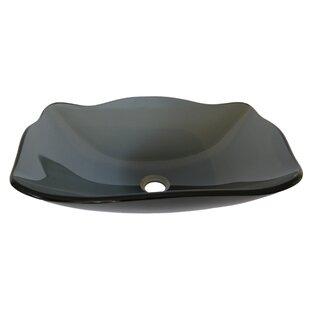 Novatto Rettangolare Glass Specialty Vessel Bathroom Sink