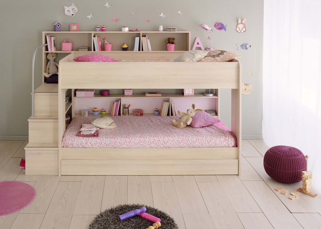 Bibop European Single Triple Sleeper Bunk Bed With Drawer