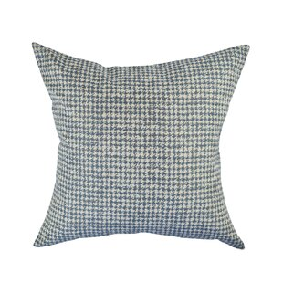 Houndstooth Woven Throw Pillow