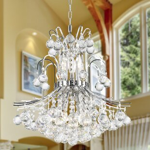 Carson 9-Light Crystal Chandelier by House of Hampton