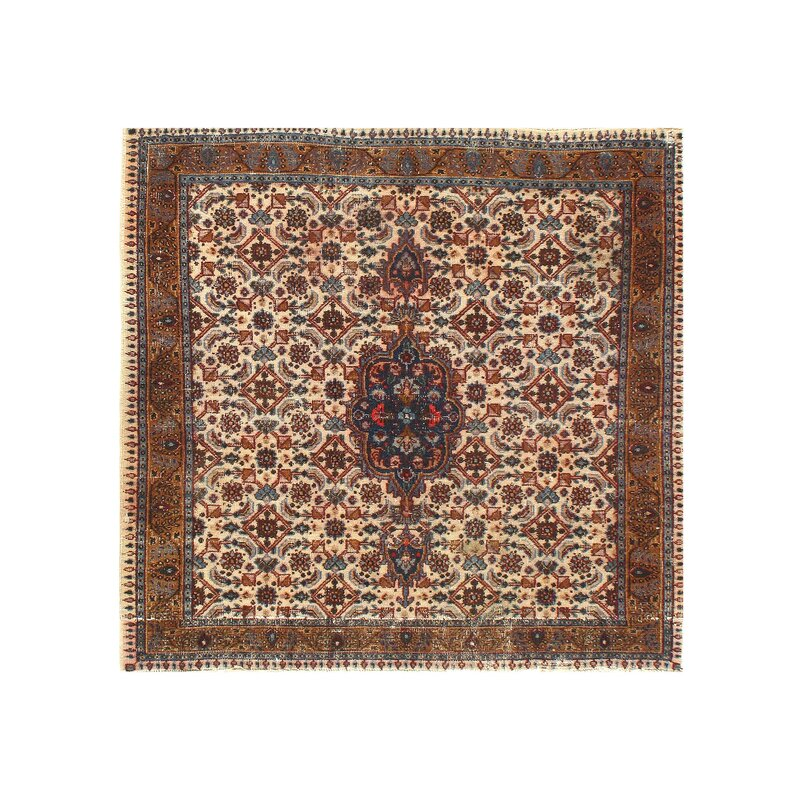 Pasargad Ny One Of A Kind Hand Knotted Brown 3 4 X 3 6 Area Rug Wayfair