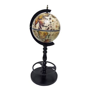 Merske LLC Sicilia Italian Style Single Leg Floor Globe Bar