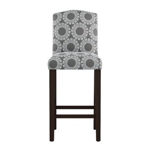 Edford Square Arched Medallion 31 Bar Stool by Wrought Studio Wonderful