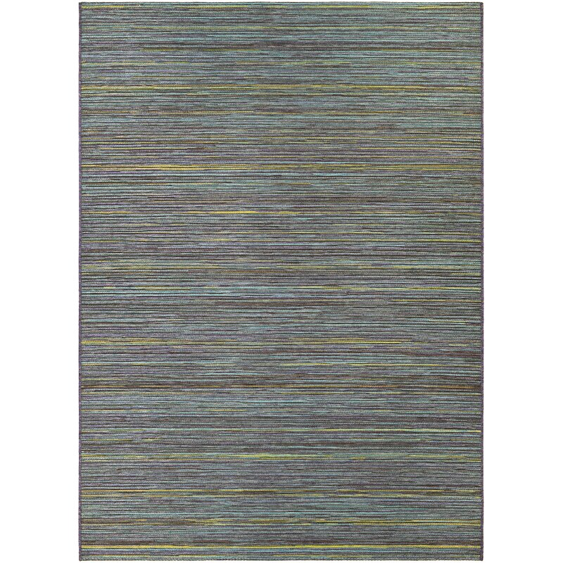 World Menagerie Amasa Teal Cobalt Indoor Outdoor Area Rug
