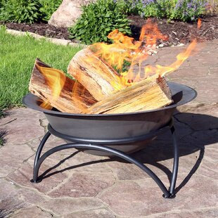 Charlton Home Merlene Wood-Burning Cast Iron Fire Pit