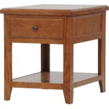 Marka Solid Wood End Table with Storage by Red Barrel Studio®