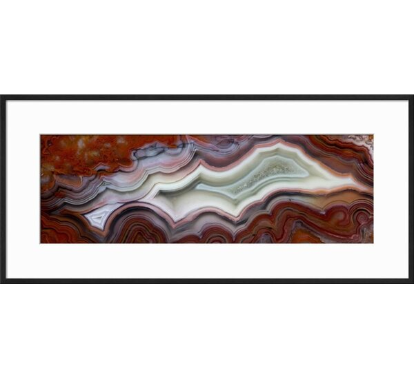 Wrought Studio \'Mexican Crazy Lace Agate\' Framed Graphic Art Print ...