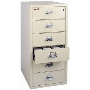 FireKing Fireproof 6-Drawer Card, Check, and Note Vertical File Cabinet