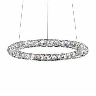 Price comparison Circle 9-Light LED Crystal Chandelier By Swarovski