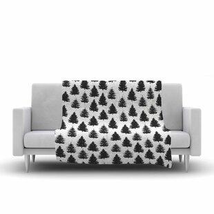 Best Price Marta Olga Klara Pine Forest Nature Fleece Blanket ByEast Urban Home