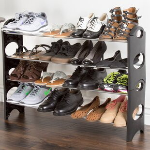 Savings 16 Pair Stackable Shoe Rack By Everyday Home