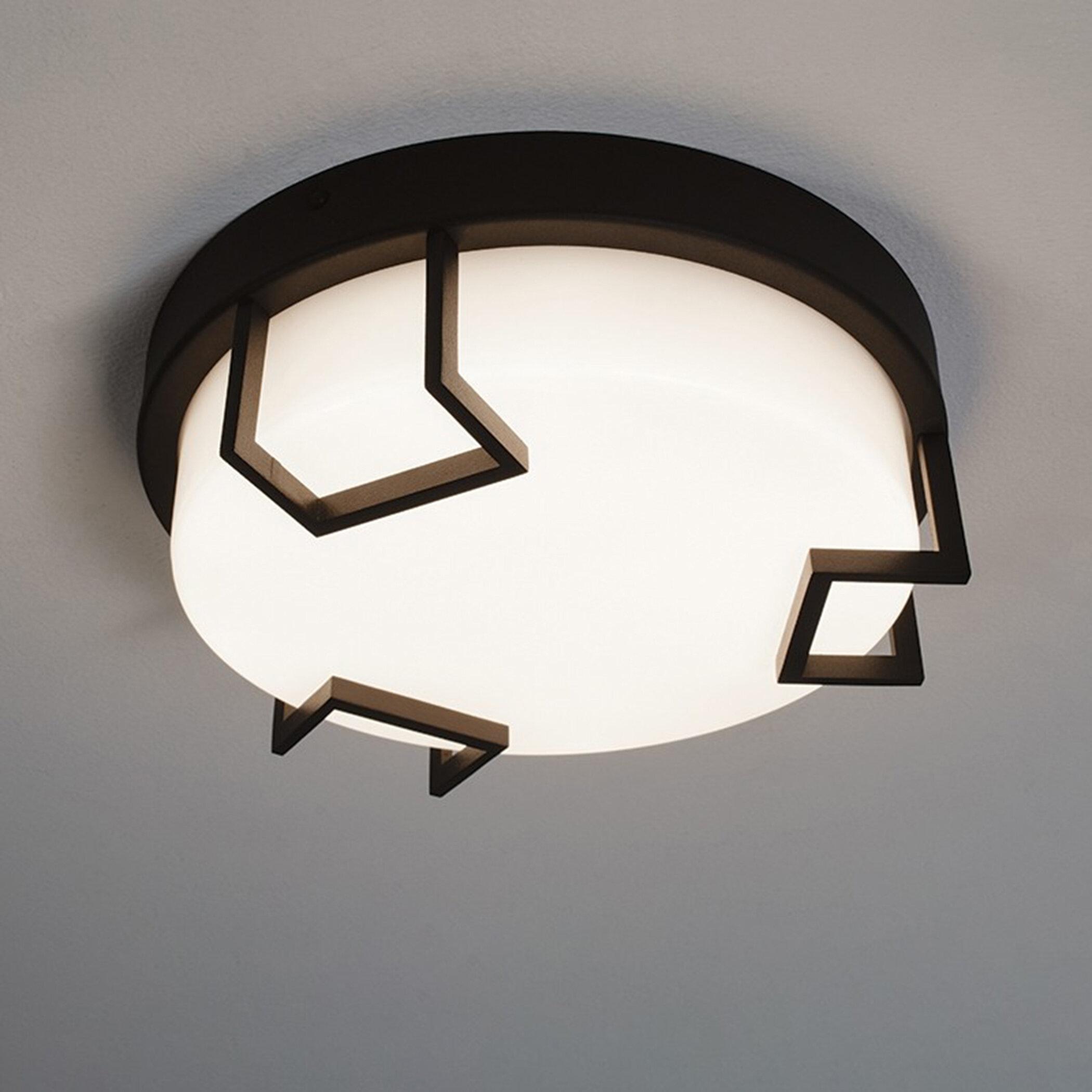 Orren Ellis Seager 1 Light Simple Circle Led Flush Mount Wayfair