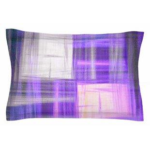 Ebi Emporium 'Tartan Crosshatch, Purple' Painting Sham