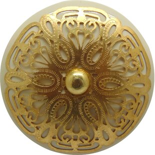Cabana Ornate Mushroom Knob (Set of 2)