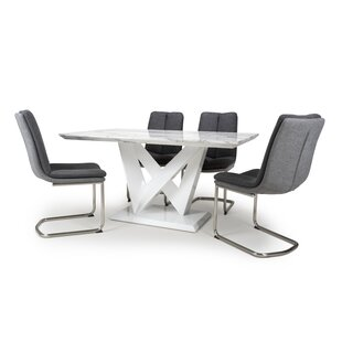 Aura Dining Set With 4 Chairs By Wade Logan