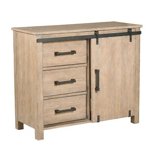 Lemelin Farmhouse Style Sliding Storage 3 Drawers or 1 Door Accent Cabinet by Gracie Oaks