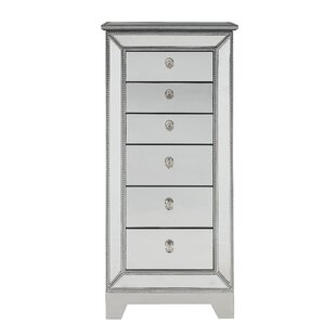 Rosdorf Park Mariaella Free Standing Jewelry Armoire with Mirror