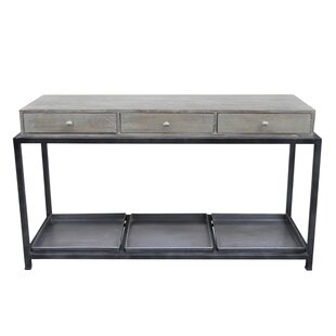 Gracie Oaks Morrissey-Bickerton Box Metal Console Table with Storage