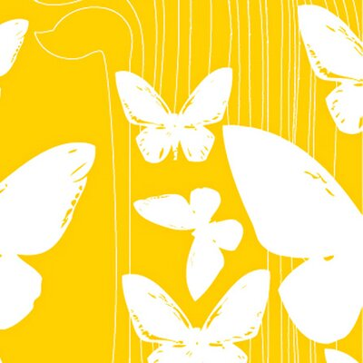 Kreme LLC California 16' x 23.5'' Butterflies Wallpaper Colour: Yellow