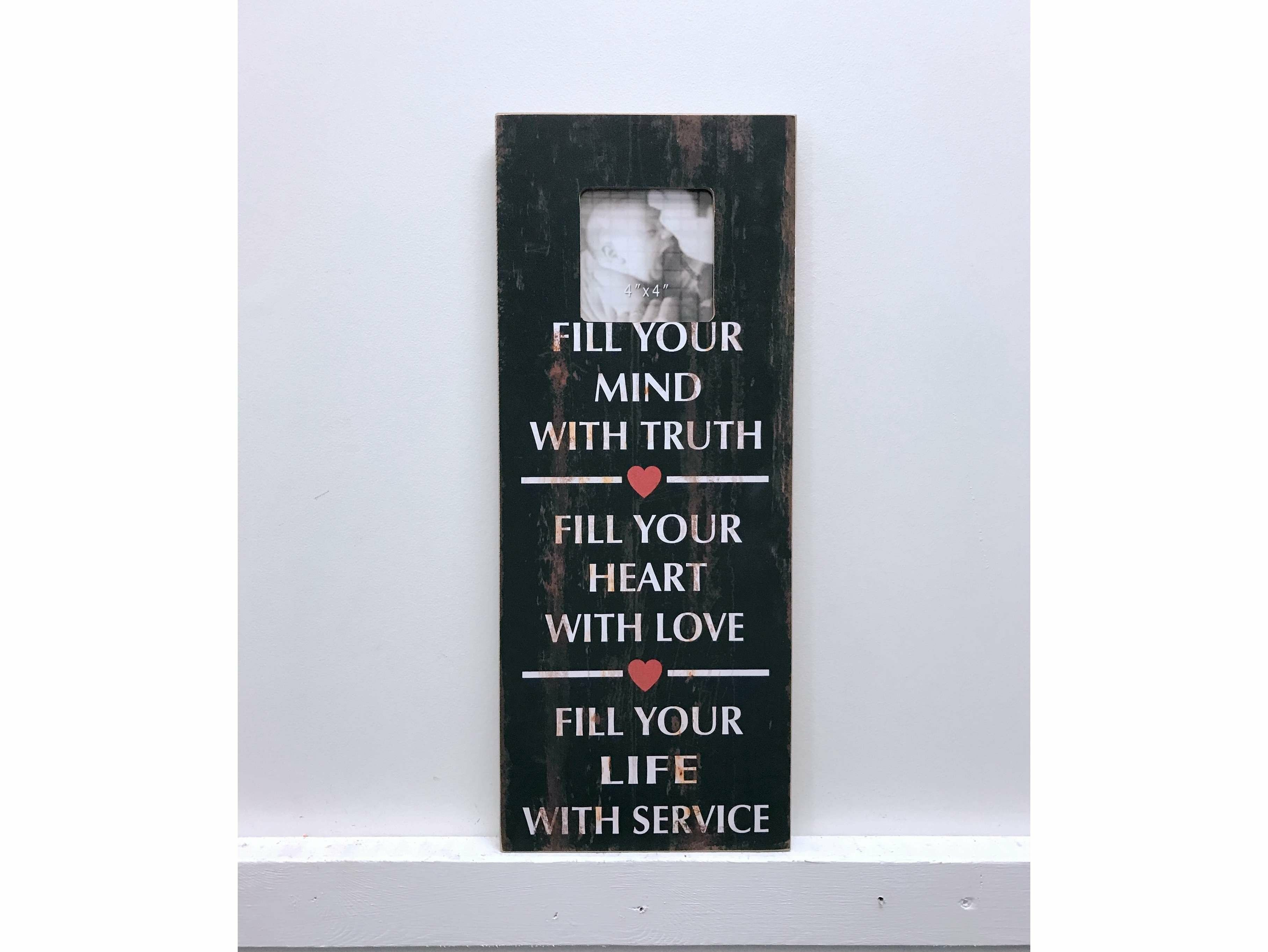 Wendell Fill Your Heart Vintage Picture Frame