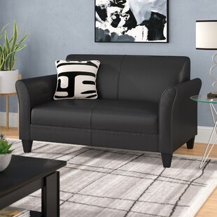 Uleena Leather Loveseat by Orren Ellis