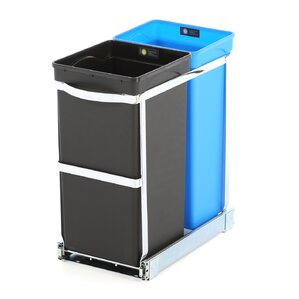 plastic 9 gallon pull outunder counter trash can
