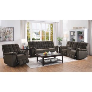 Price comparison Navarra 3 Piece Reclining Living Room Set by Red Barrel Studio Reviews (2019) & Buyer's Guide