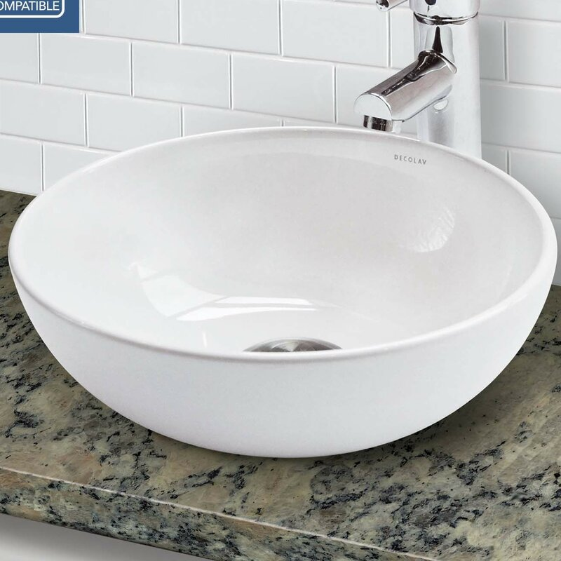 Bathroom Sinks Above Counter decolav classically redefined above counter lavatory circular