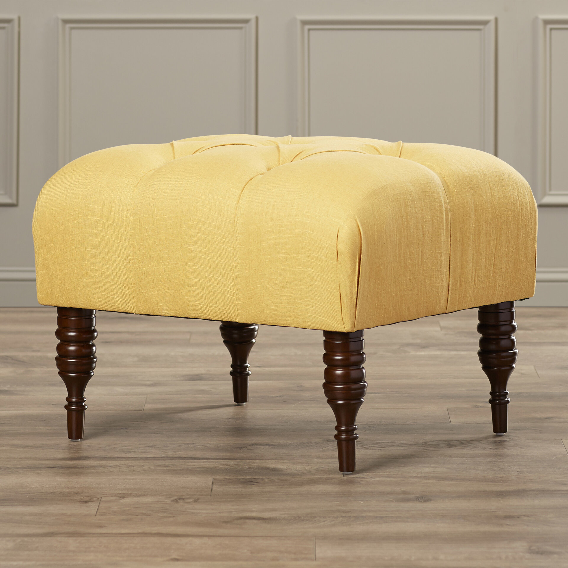 Darby Home Co Fairmount 24 5 Wide Tufted Rectangle Ottoman Reviews Wayfair