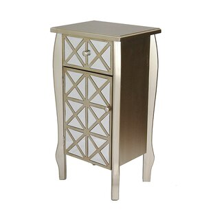 Heather Ann Creations 1 Drawer 1 Door Bombay Accent Cabinet