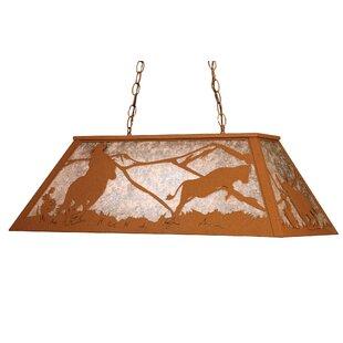 Meyda Tiffany Cowboy and Steer 6-Light Pool Table Lights