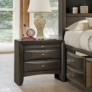 Shippy Wooden 2 Drawer Nightstand by Orren Ellis