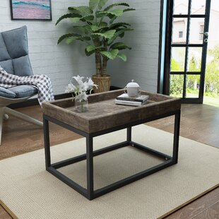 Fenske Framed Coffee Table with Tray Top by Wrought Studio