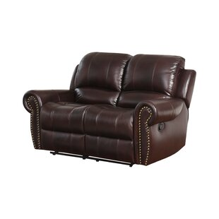 Barnsdale Leather Reclining Loveseat