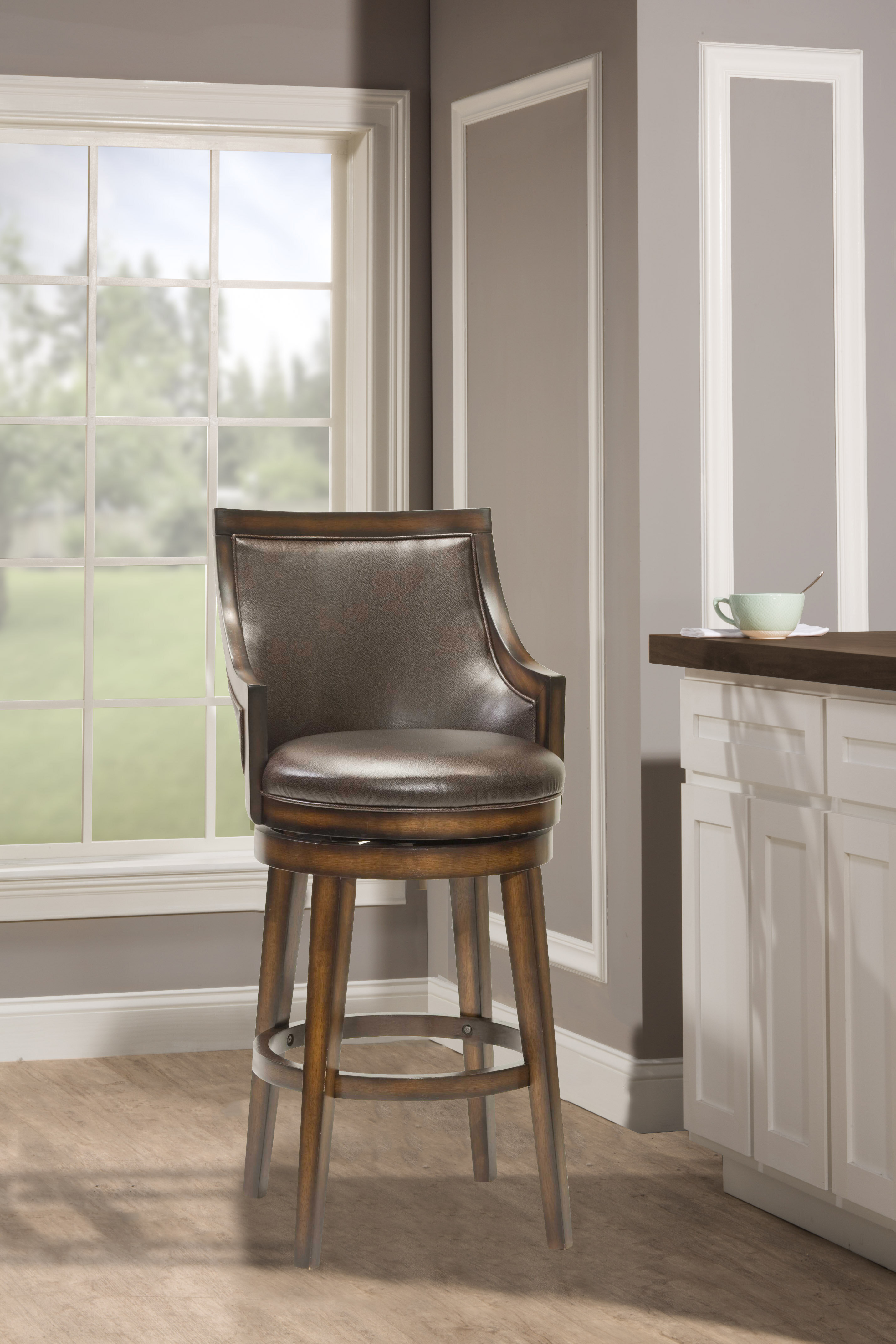 Picture of: Millwood Pines Norval Bar Counter Swivel Stool Reviews