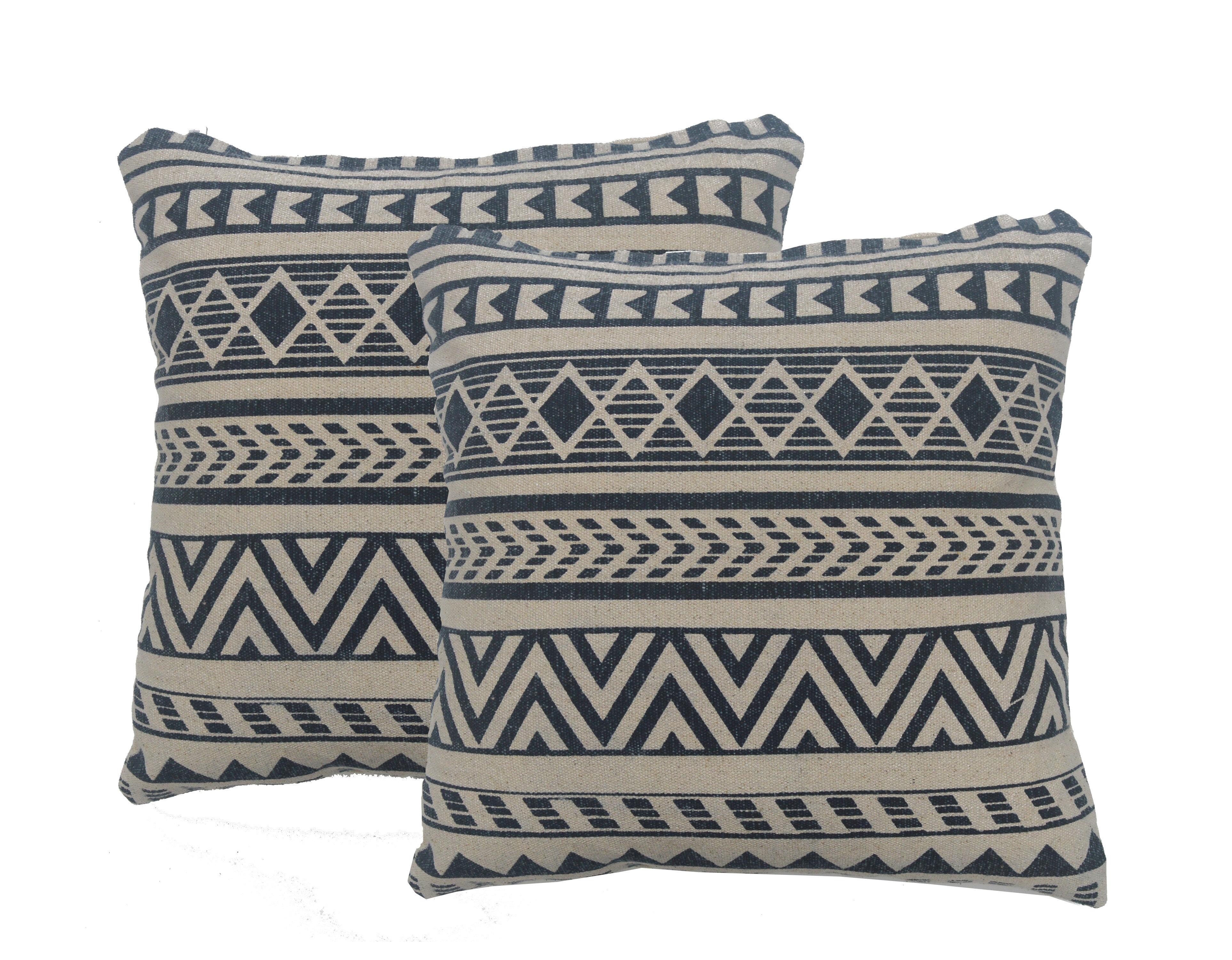 Loon Peak Dejong Cotton Geometric 18 Throw Pillow Cover Wayfair