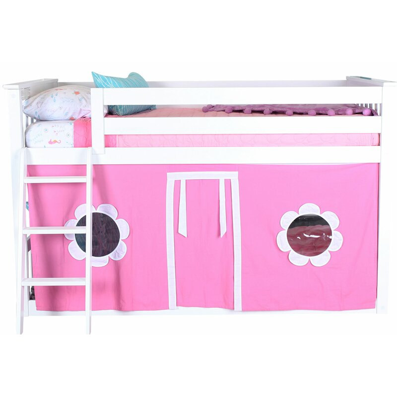 Fairlawn Twin Low Loft Bed With Underbed Curtains