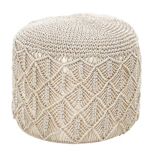 Codman Handwoven Macramé Pouf by Bungalow Rose
