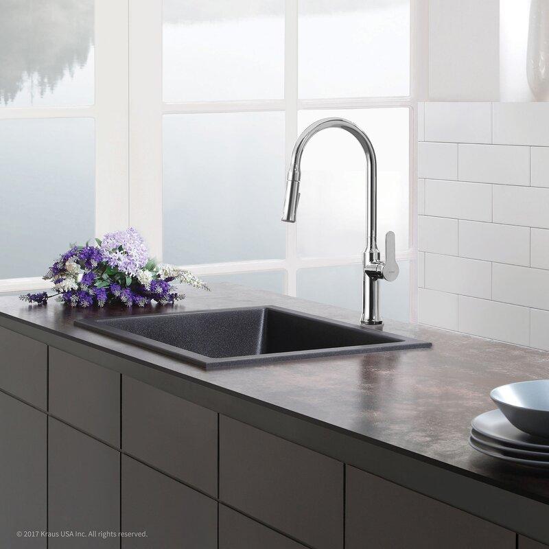 Tile In Kitchen Sink Kraus 24 x 18 drop in kitchen sink reviews wayfair 24 x 18 drop in kitchen sink workwithnaturefo