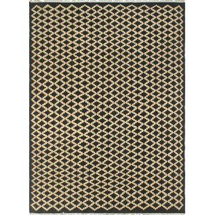 Shop for One-of-a-Kind Lavern Hand-Woven Wool Black/Beige Area Rug By Isabelline