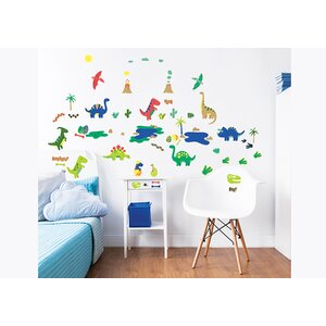 Dinosaur 58 Piece Wall Decal Set