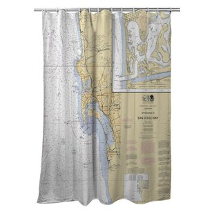 Ellisburg Chesapeake Bay, MD-VA Polyester Single Shower Curtain