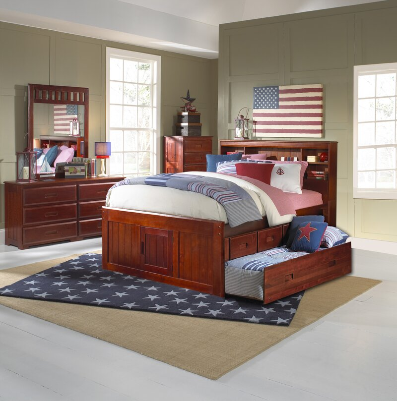 Birch Lane Heritage Fulvia Mate S Bed With Bookcase And 6 Drawers
