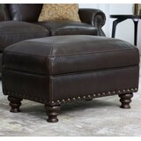 Lovitz 29.29'' Genuine Leather Rectangle Standard Ottoman by Darby Home Co