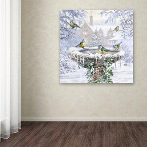 'Birdbath Flat' Print on Canvas