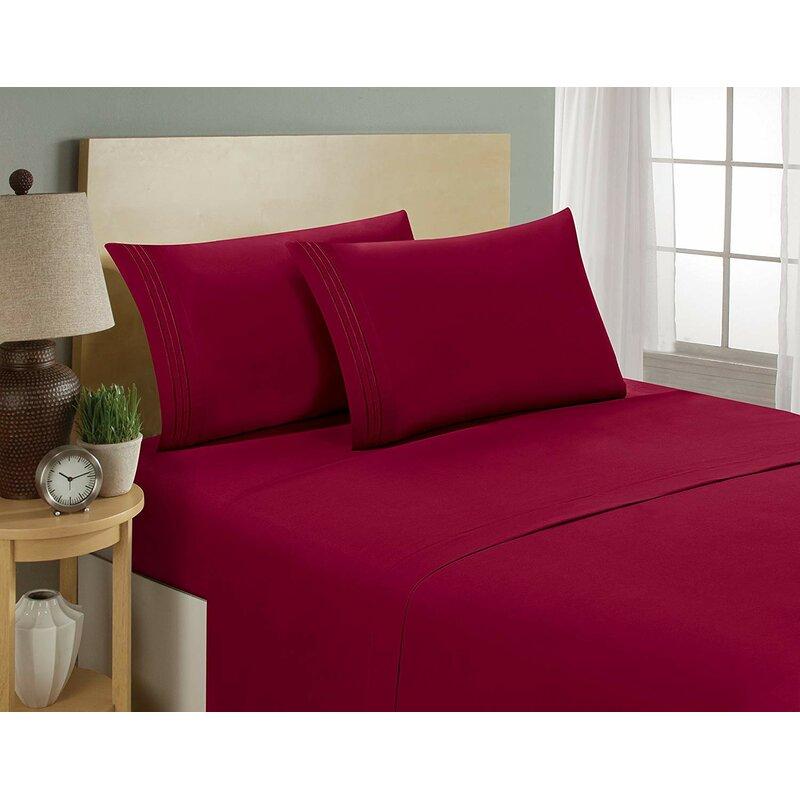 Nona 1800 Thread Count Ultra Soft Bedroom Sheet Set
