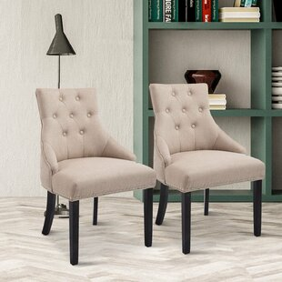 Evelina Upholstered Dining Chair (Set of 2) by Alcott Hill